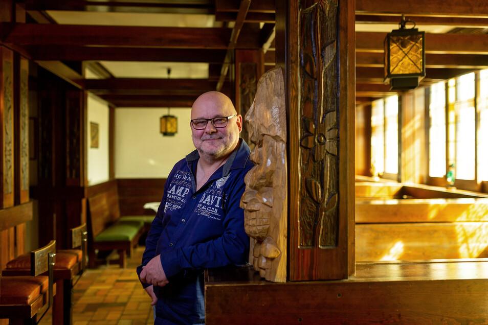 Andreas Sämann ist seit Anfang März der neue Manager im Lugsteinhof. Er plant weitreichende Umbauten in dem geschichtsträchtigen Haus.