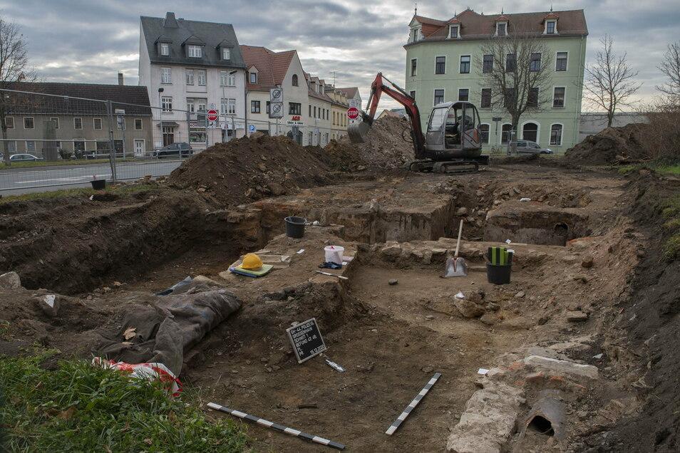 Hier am ehemaligen Standort des Sachsenhofes soll die neue Polizeistation entstehen.