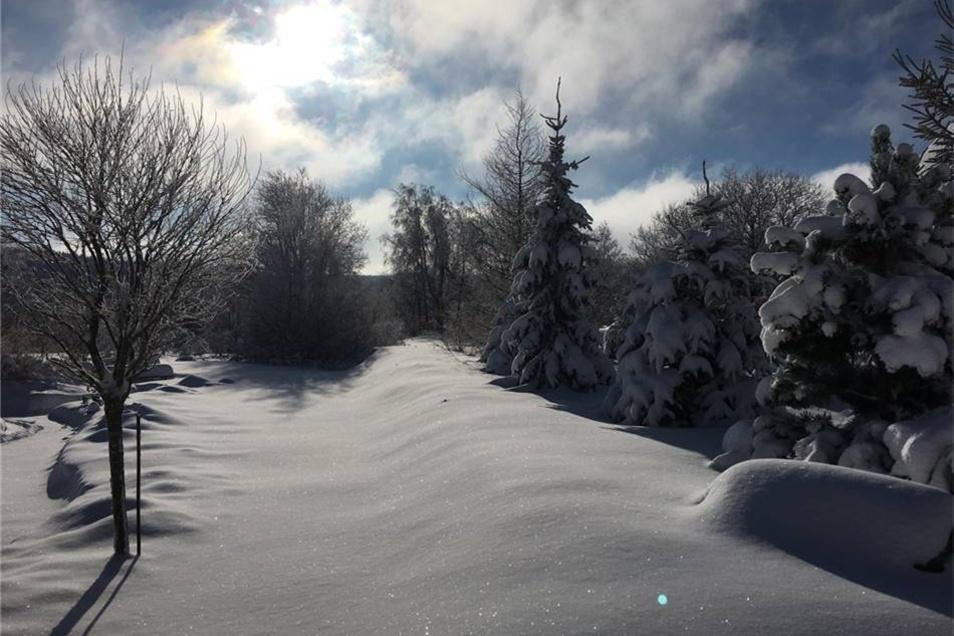 Altenberg. Robert Wagner aus dem bayerischen Taufkirchen hat beim Winterurlaub in Altenberg an den  Galgenteichen viel Schnee gefunden.