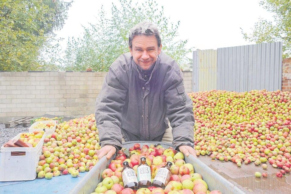 Die Zeit ist reif für Cidre aus den Sudeten: Radim Burkon bevorzugt dafür wilde und alte Apfelsorten.