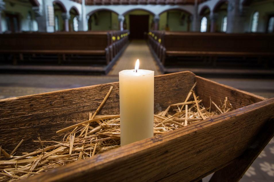 Die leere Markus-Kirche in Dresden. Hier und in anderen Kirchen findet zu Weihnachten wegen des Corona-Virus kein Gottesdienst statt. Es geht auch anders. Foto: Sven Ellger