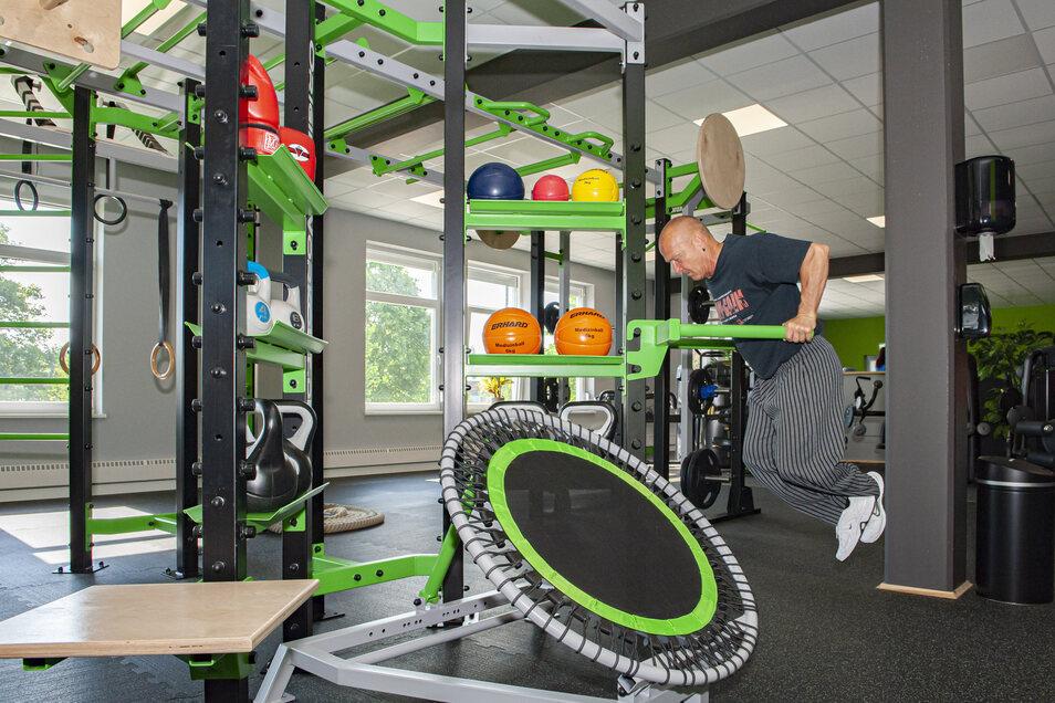Jörg Donner im neuen Crossfit-Turm des Großenhainer Fitnessclubs e. V.