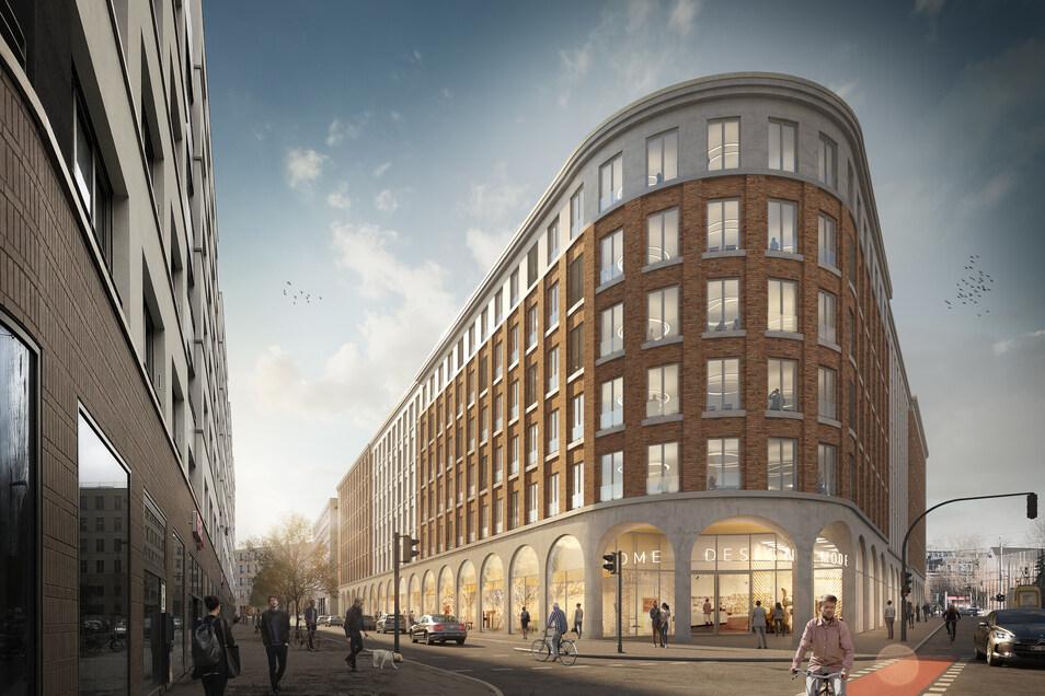 So soll der Bürokomplex der Annenhöfe am Postplatz künftig aussehen.