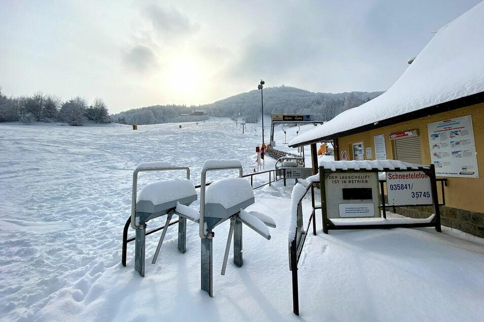 So traumhafte Skibedingungen an der Lausche wie schon lange nicht mehr. Nur eben ohne Lift!