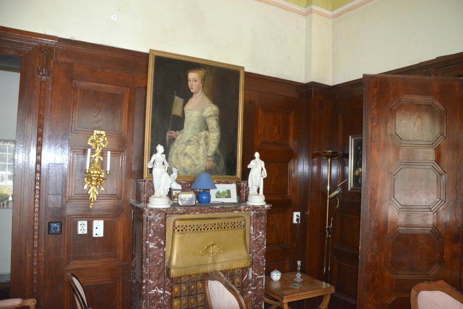 """Die Dame in Weiß"""" ist ein berühmtes Gemälde – und in Goßwitz eine Kopie."""