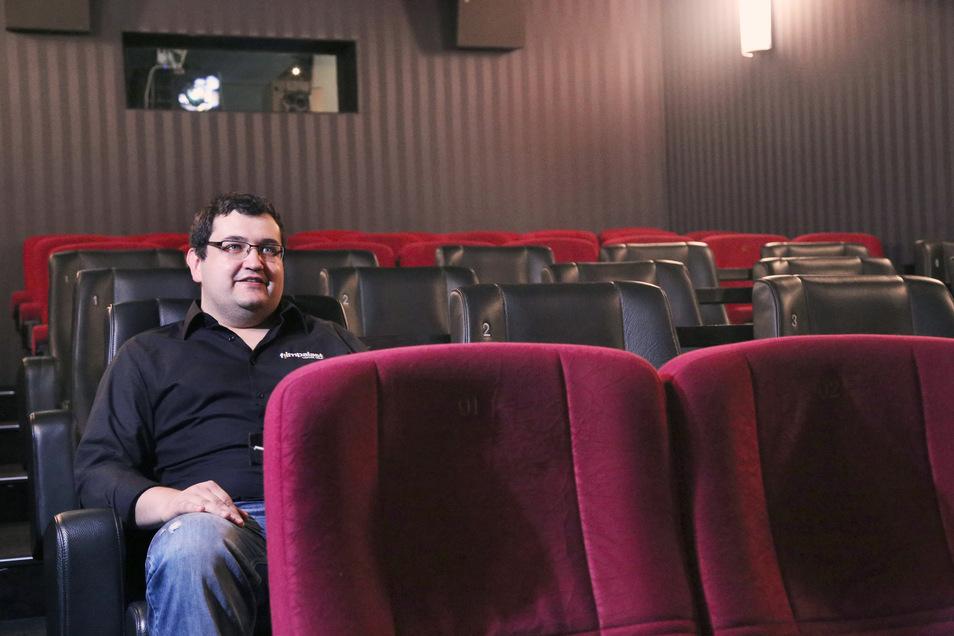 Ist unglücklich über die vielen leeren Plätze in den Filmpalästen Meißen und Riesa: Alexander Malt leitet die beiden Elbland-Häuser der Kinokette.