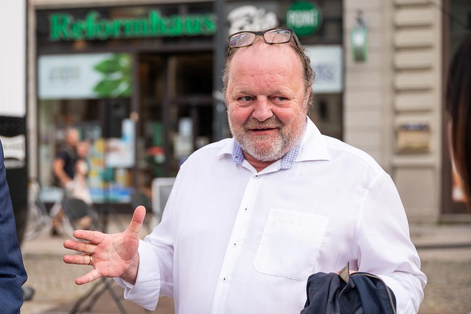 """Filmproduzent Stefan Arndt gab auf dem Postplatz Einblick in die Pläne für die Serie """"Torstraße 1"""""""