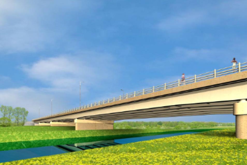 2007 gab es die Neißebrücke erst als Bild auf dem Papier.