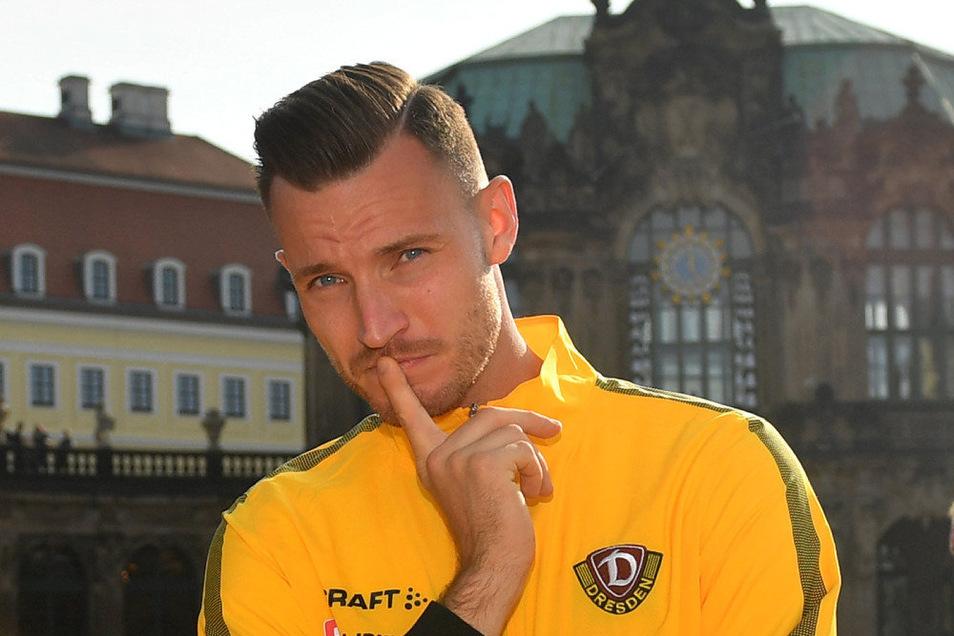 Dynamos Mannschaftskapitän Florian Ballas erklärt den Gehaltsverzicht der Zweitliga-Profis. Und er hofft, dass die Saison zu Ende gespielt werden kann.