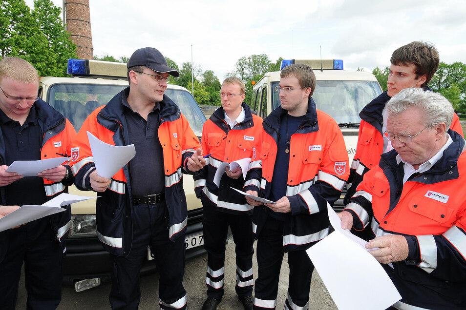 Die Malteser engagieren sich auch im Katastrophenschutz. Hier ging es um eine Übung 2009.