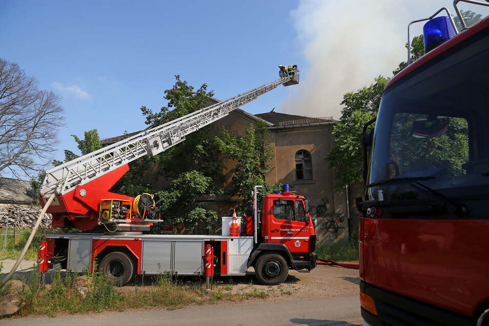 Im Röderauer Waldschlößchen hatte es Freitag gebrannt.
