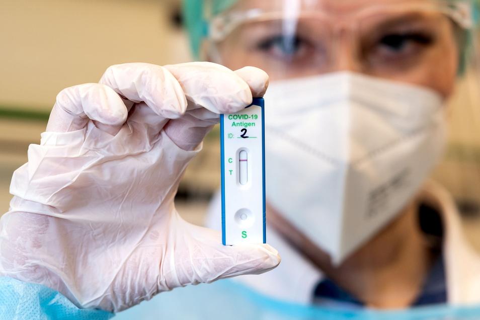 Jeder kann sich einmal pro Wochen kostenlos auf das Coronavirus testen lassen. Viele Sachsen wollen das Angebot nutzen.