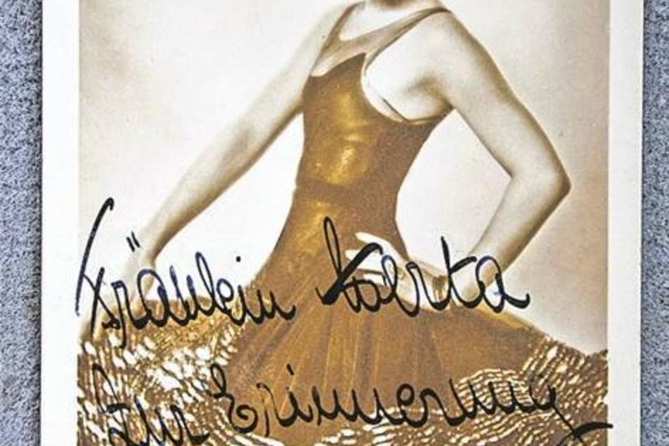 Auch Filmstar Lilian Harvey schrieb der Masseurin Hertha nette Zeilen.