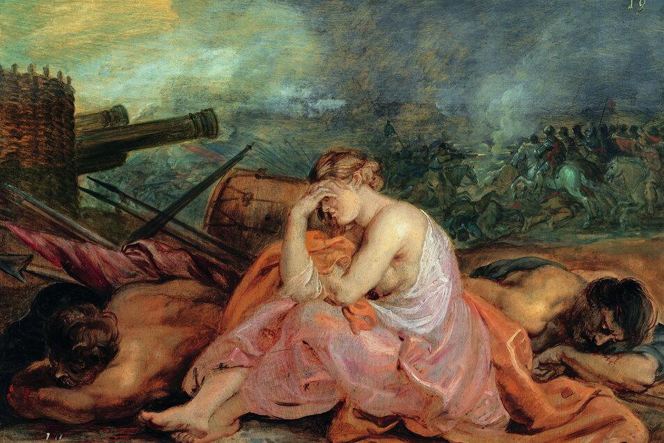 """Peter Paul Rubens malte die """"Allegorie auf den Krieg"""" (Ausschnitt) um 1628. Auch eine """"Allegorie des Friedens"""" entstand. Der """"Krieg"""" befindet sich in Wien, der """"Frieden"""" in der Gemäldegalerie in Dessau"""