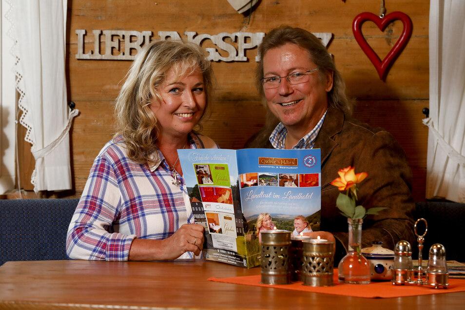 Kathrin und Peter Kunze an ihrem Lieblingsplatz im Quirle-Häusl.