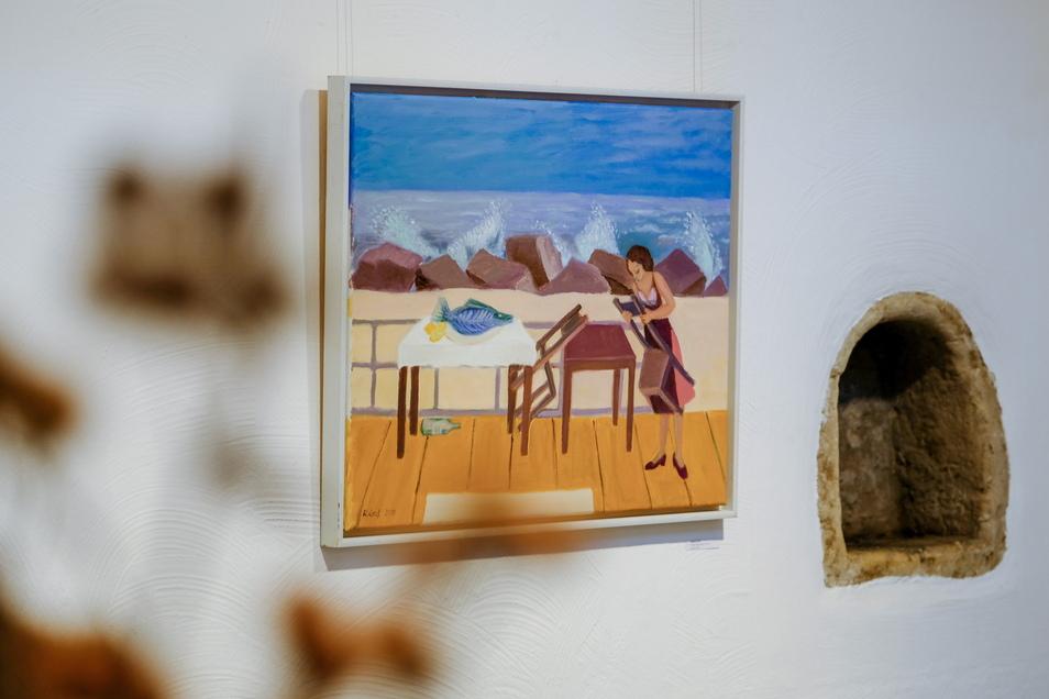 """""""Ende der Saison"""" lautet der Titel des Ölbildes von Karen Graf."""
