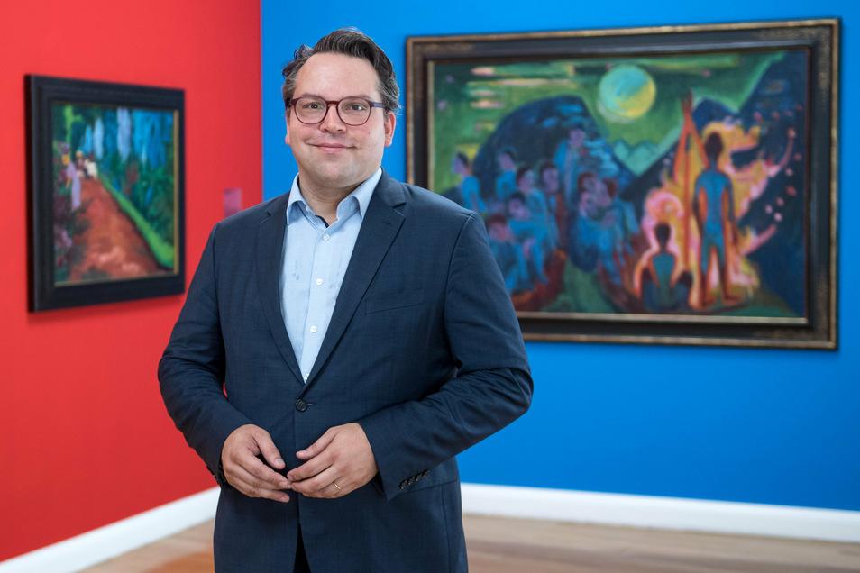 Der Kunsthistoriker Frédéric Bußmann, 45, ist seit zwei Jahren Generaldirektor der Kunstsammlungen Chemnitz.