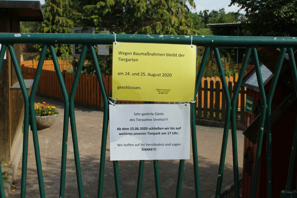 Die Stadtverwaltung hat den Strehlaer Tierpark vorsorglich für zwei Tage geschlossen.