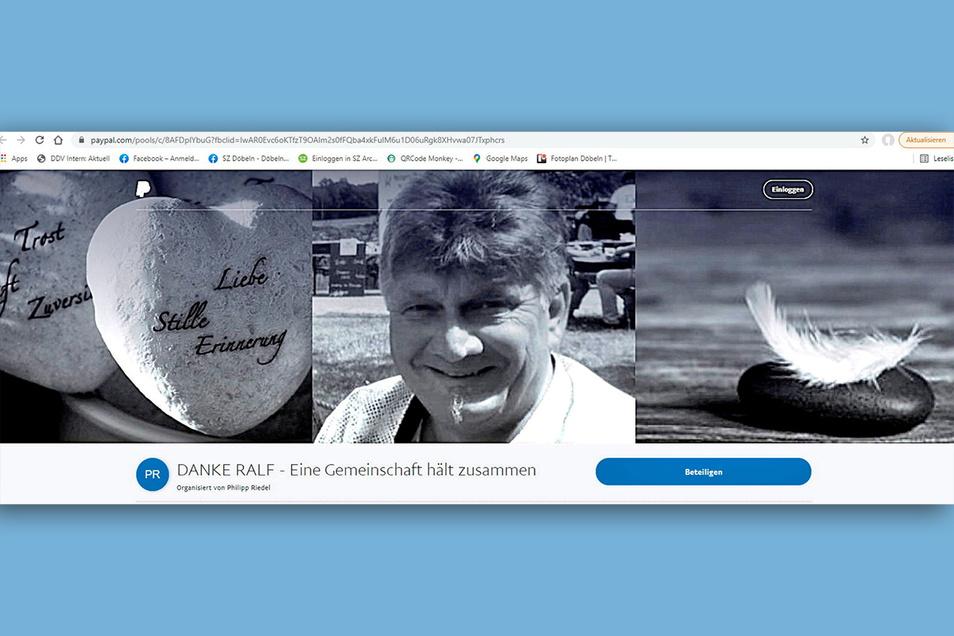 Noch bis zum Wochenende läuft über den Bezahldienstleister Paypal die Spendenaktion für Ralf Herrmann. Der Leisniger war überraschend gestorben.