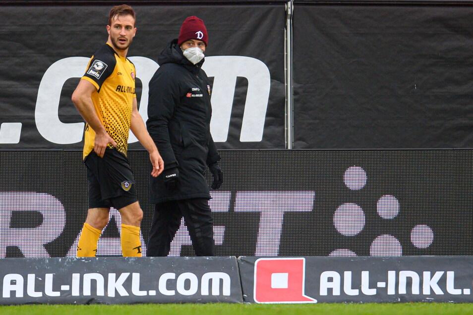 Dynamo-Stürmer Pascal Sohm musste im Heimspiel gegen Ingolstadt verletzt ausgewechselt werden. Jetzt steht die Diagnose fest.