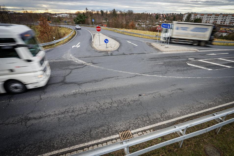 Die Tage der jetzigen Radeburger Autobahnanschlussstelle sind gezählt.