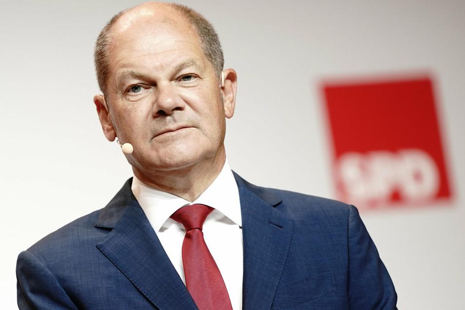 Olaf Scholz erklärte in einer Presskonferenz am Montag, wie er sich Deutschlands Zukunft vorstellt.