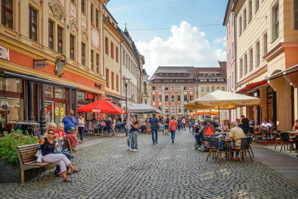 Die Bautzener Reichenstraße ist eine beliebte Einkaufs- und Bummelstraße. Ab 14. September soll dort gebaut werden.