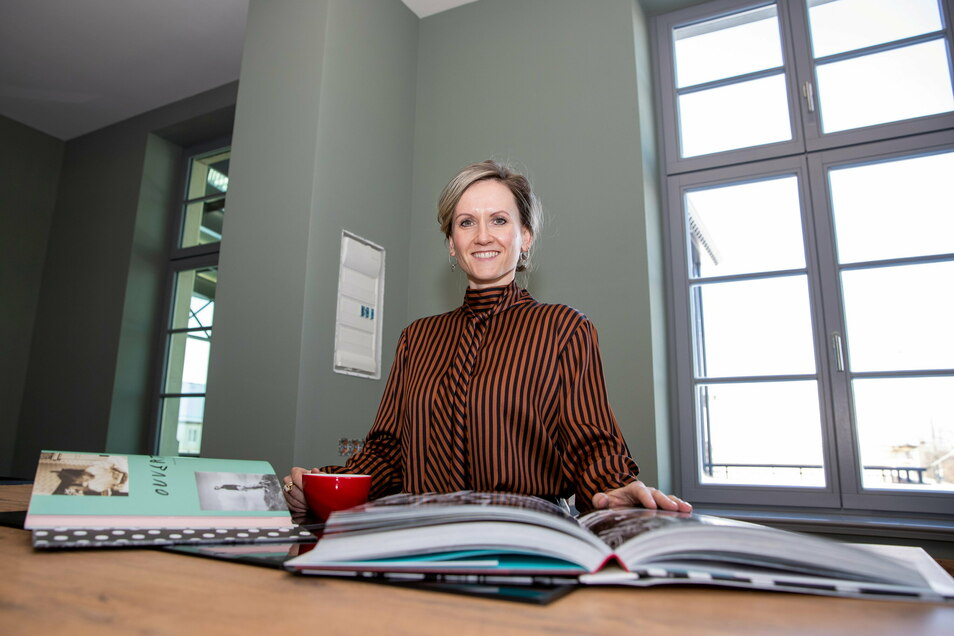 Susanne Engler steht in der Küche ihres künftigen Schokoladen-Ateliers.