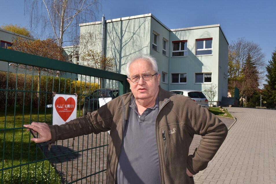 Ulrich Marquardt wünscht sich mehr Kontrollen der Nachweise bei Eltern in der Kita Kinderland am Wiesenhang.