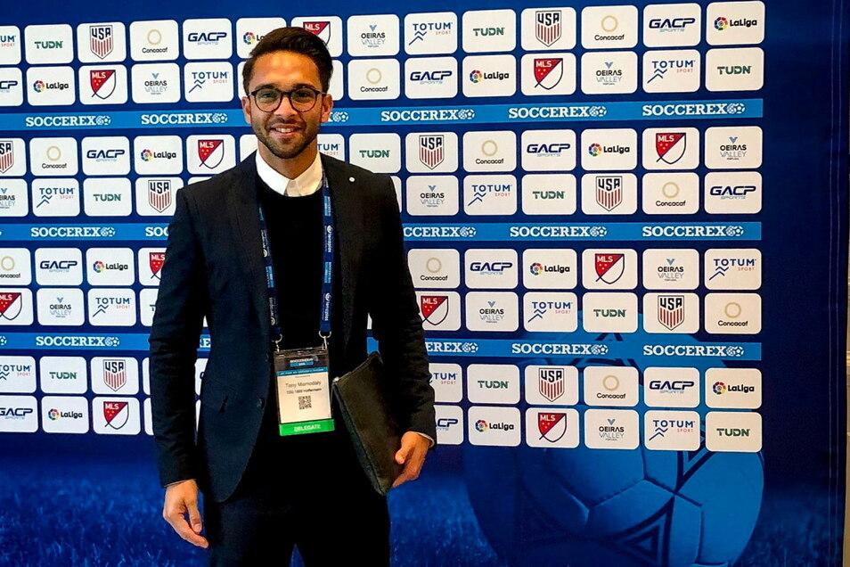 """Tony Mamodaly hat die Agentur """"Mind Game Sport"""" gegründet und berät seit sechs Jahren junge Fußballer und Fußballerinnen für eine mögliche Karriere am College in den USA. Außerdem ist er für die Internationalisierung der TSG 1899 Hoffenheim verantwortlich"""
