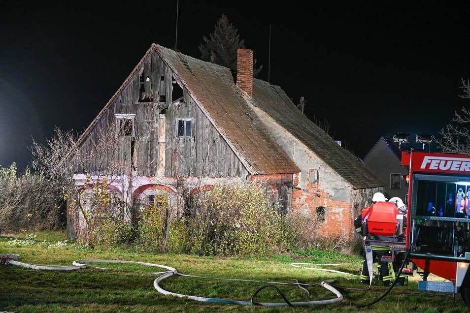 In diesem Umgebindehaus haben die Kinder einen Brand gelegt.
