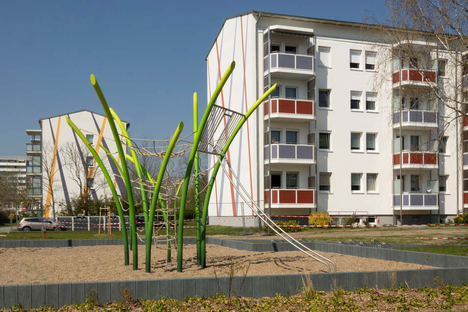 Spielplätze wie an der Glauchauer Straße sollen Riesaer Wohngebiete attraktiv machen.