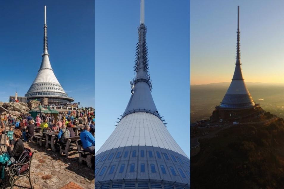 Der Jeschken ist ein beliebtes Ausflugsziel, aber Berghotel und Sender inzwischen in die Jahre gekommen.