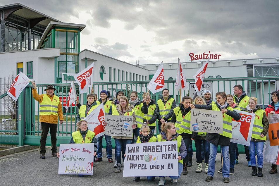 Im März wurde bei Develey in Bautzen gestreikt - eines der Unternehmen in Sachsen, in dem die Gewerkschaft stark vertreten ist.