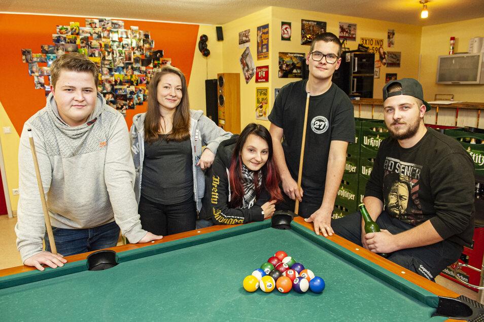 Florian Baude, Benita Menzel, Angelique Freyer, Tobias Keil und Tim Aulich (v.l.) sind der harte Kern des neuen Clubs