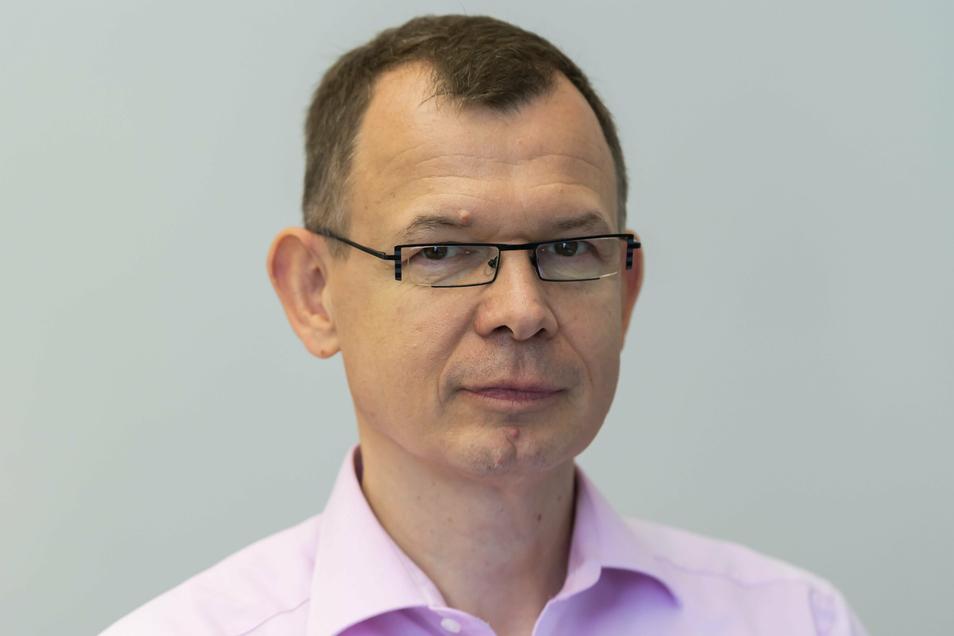Professor Rüdiger Schwarze (54) lehrt und forscht zur Strömungsmechanik an der TU Bergakademie Freiberg.