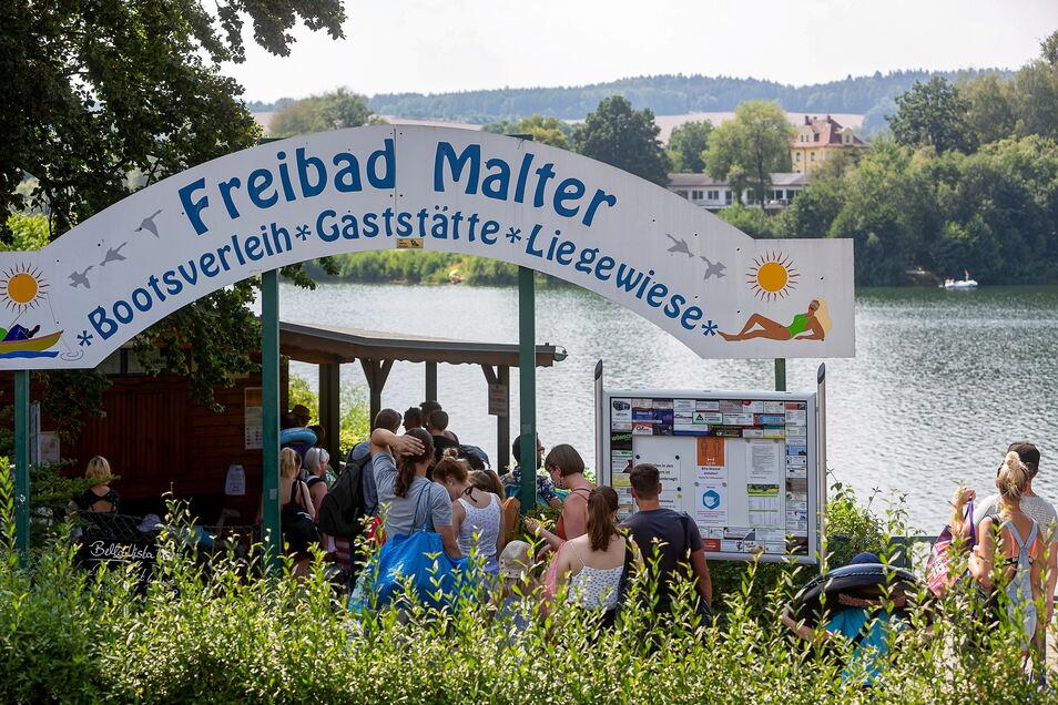 Die Talsperre Malter ist der touristische Schwerpunkt im Dippser Stadtgebiet. Seine Weiterentwicklung ist auch eine Aufgabe der Stadtentwicklung.