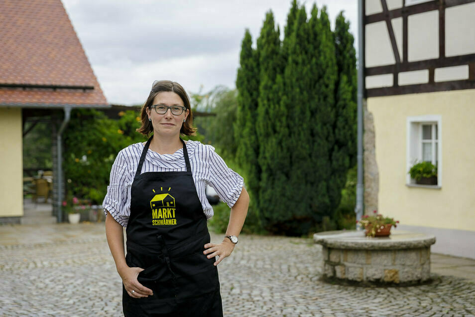 Anne Ritter-Hahn organisiert die Görlitzer Marktschwärmerei. Jetzt befürchtet sie, dass sie sich einen neuen Platz dafür suchen muss.