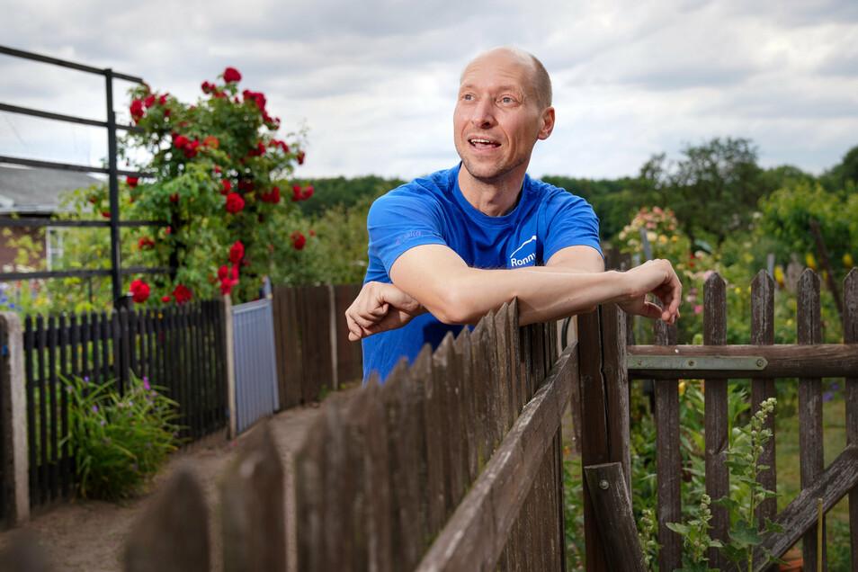 """Ronny Richter vom siegreichen Kleingartenverein """"Am Waldrand"""" hat kein Interesse an kleingärtnerischen Konfrontationen."""