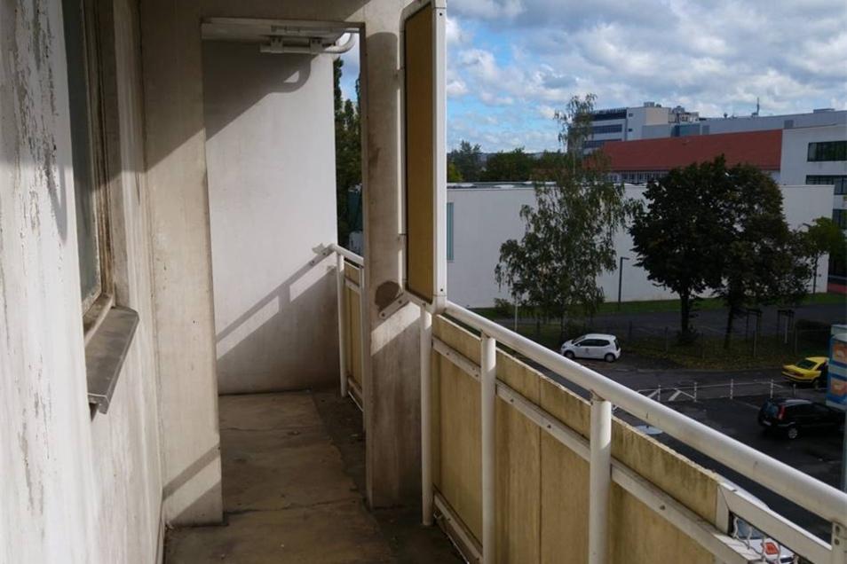 Blick auf einen der vielen Balkone.