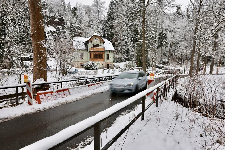Diese Brücke im Bielatal ist ab Montag gesperrt.