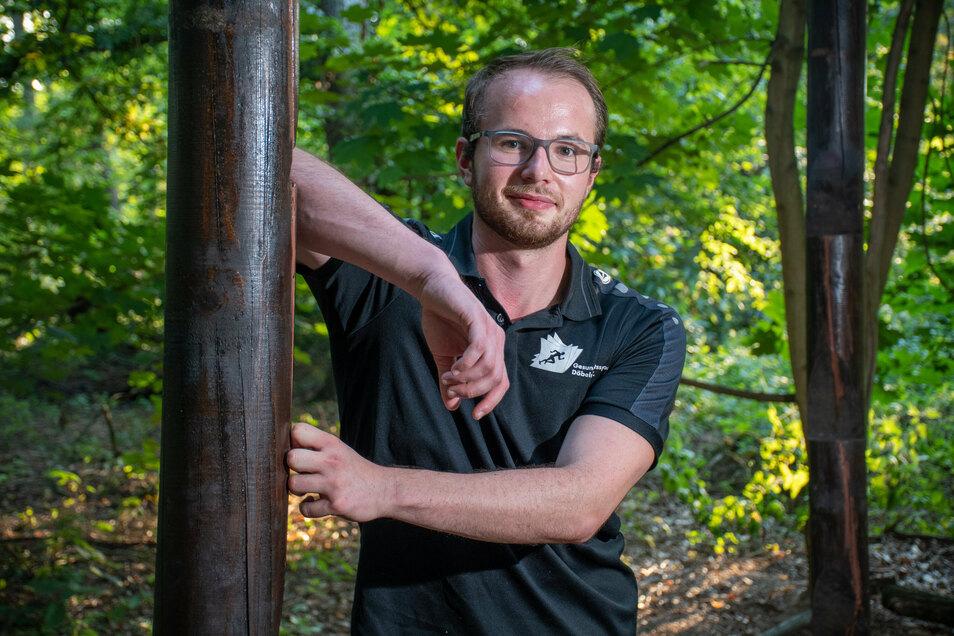 Glenn Bauerochse ist Leiter des Harthaer Sportzentrums, das auch Kurse im Freien anbietet.