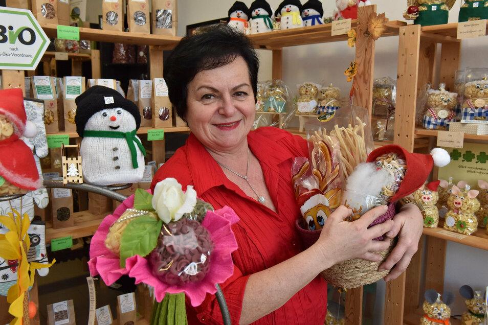 Alles Nudel oder was: Helga Queck verkauft ihre Nudeln unter anderem über die Plattform des Dresdner Druck- und Verlagshauses.