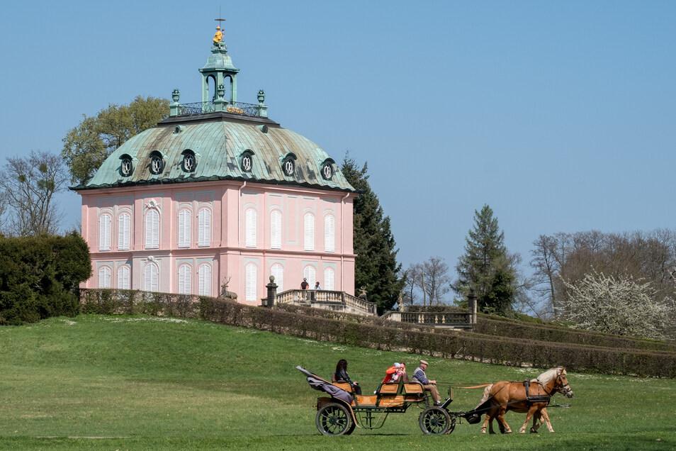 Nicht mehr verschlossen. Das Moritzburger Fasanenschlösschen kann endlich wieder besucht werden.