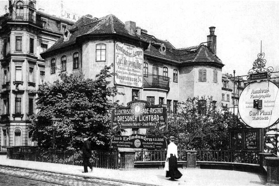 Auf dieser Postkarte um 1900 ist das Narrenhäusel zu sehen.
