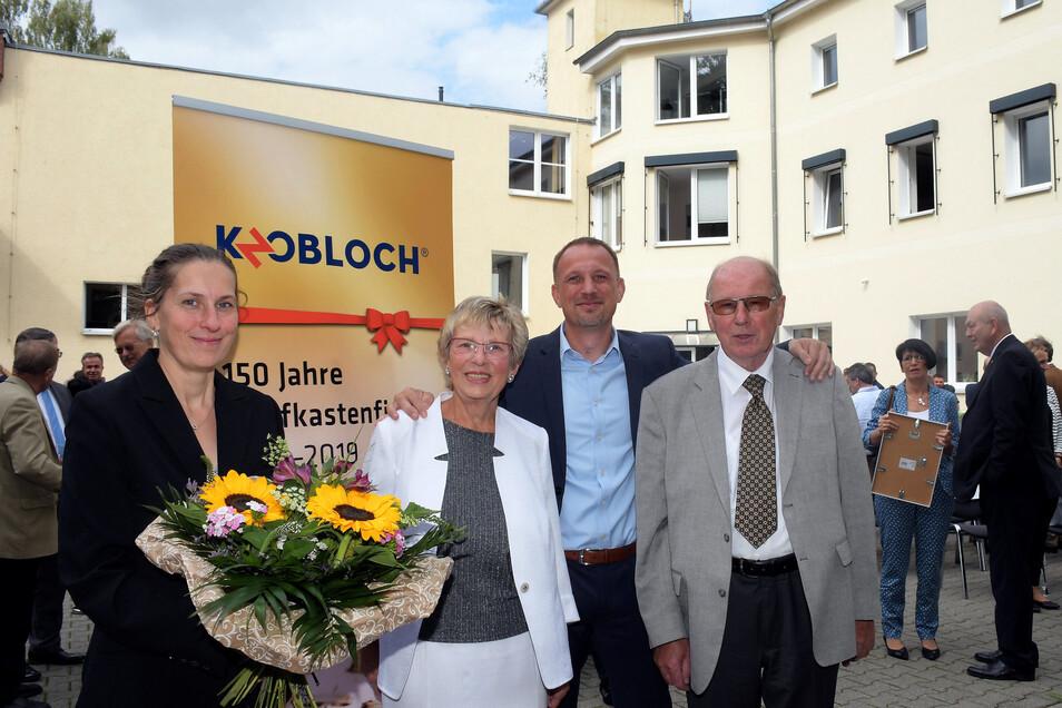 Zwei Unternehmergenerationen: Erika und Reinhard Kolbe reprivatisierten die Max Knobloch Nachf. GmbH 1990. Seit 2017 ist Sohn Thomas alleiniger Geschäftsführer. Tochter Susanne kümmert sich als Personalchefin um 170 Mitarbeiter.