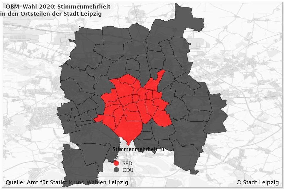 Kurz vor dem Endergebnis liegt die SPD knapp vorn.