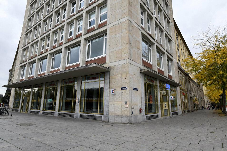 In die Wilsdruffer 3, zu DDR-Zeiten Sportkaufhaus, könnte ein Café oder Restaurant einziehen, so die Pläne des Vermieters.