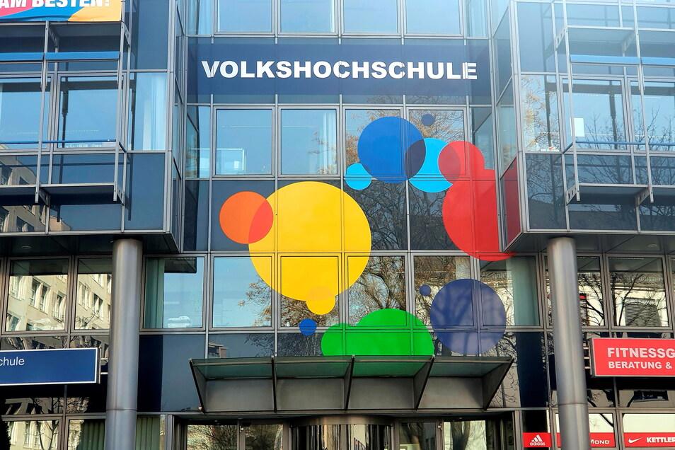 Die Dresdner Volkshochschule auf der Annenstraße öffnet ab 1. Juni wieder für den Präsenzunterricht.