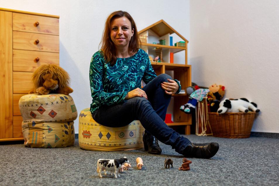 So hat Katrin Maes, die Leiterin der Familienberatung der Diakonie, vor der Corona-Krise Familien mit Kindern empfangen. Das geht jetzt nicht mehr..